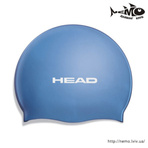 head silicone flat blue
